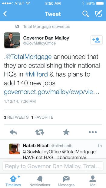 Total Mortgage Governor Tweet