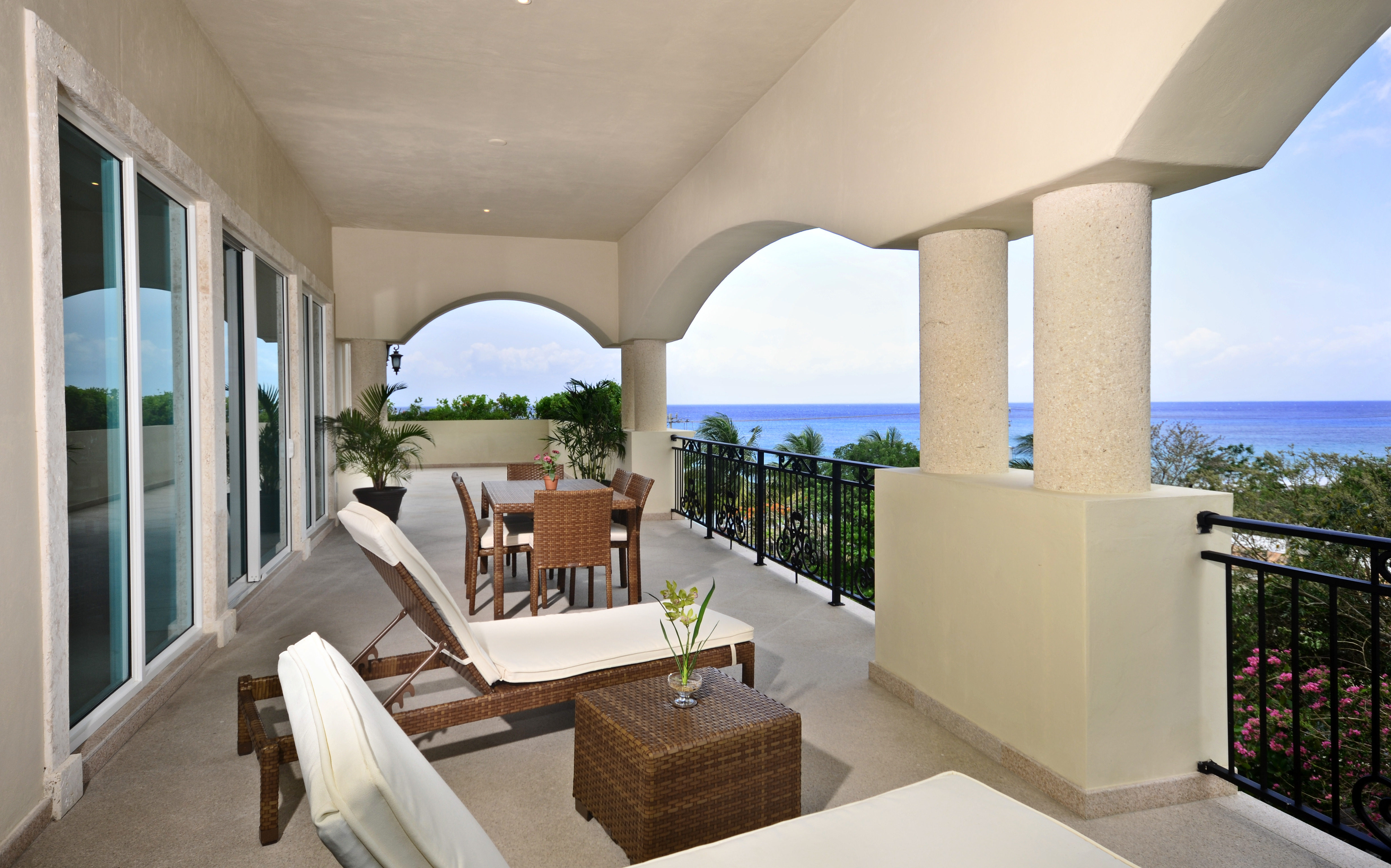 Oceanfront property mexico large terrace amazing panoramic view