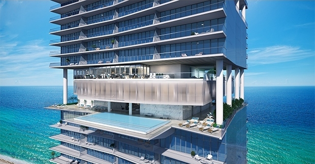 Turnberry Ocean Club Sky Club Sunrise and Sunset pools