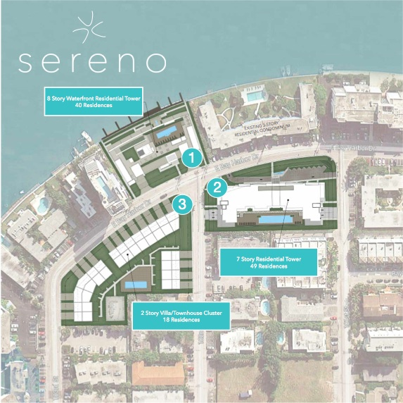 New sereno condominiums townhomes on bay harbor islands for 13th floor investments