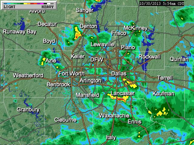Here Comes The Rain Again   Dallas Wednesday Weather