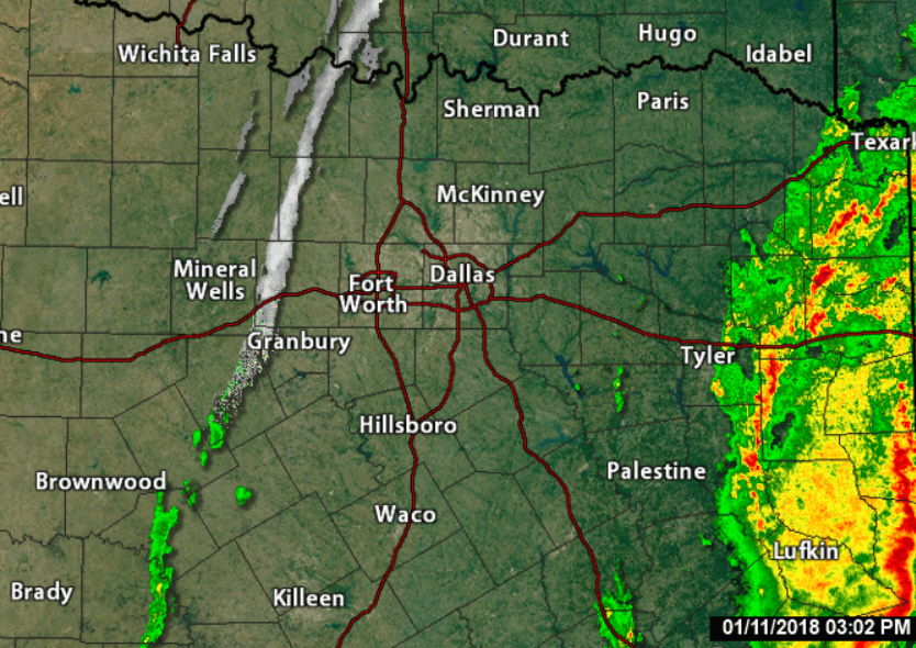 Crazy Weather Radar Shows The Icy Cold Front Moving In on