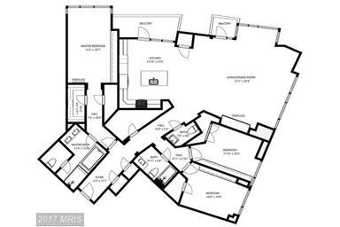 floor plan for unit 401