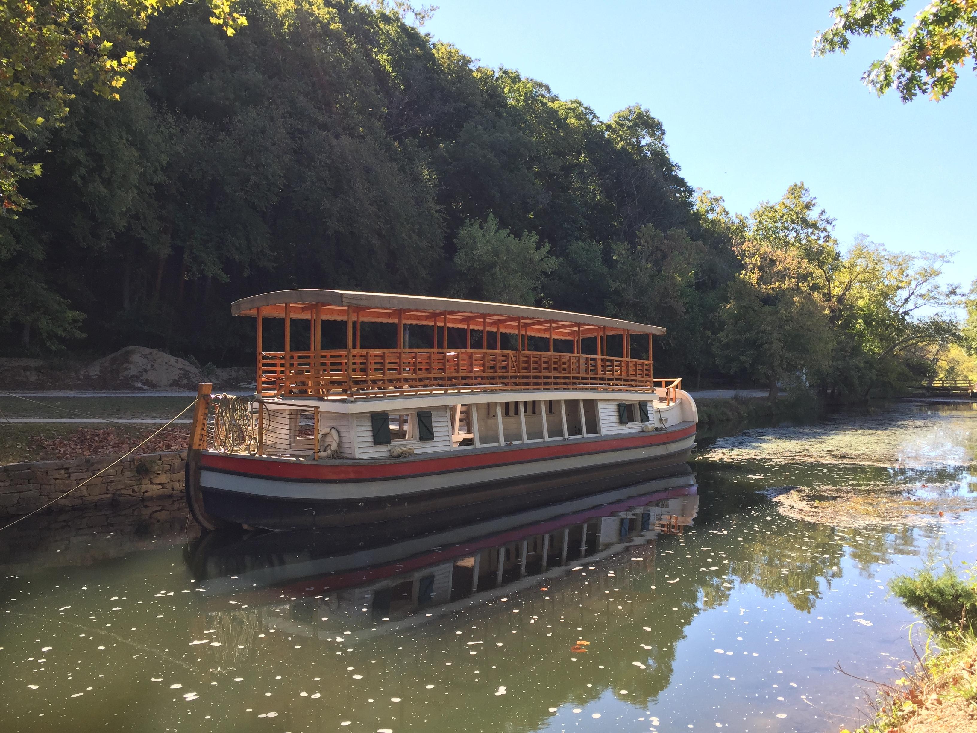 Charles F. Mercer barge on the C&O Canal - Lise Howe