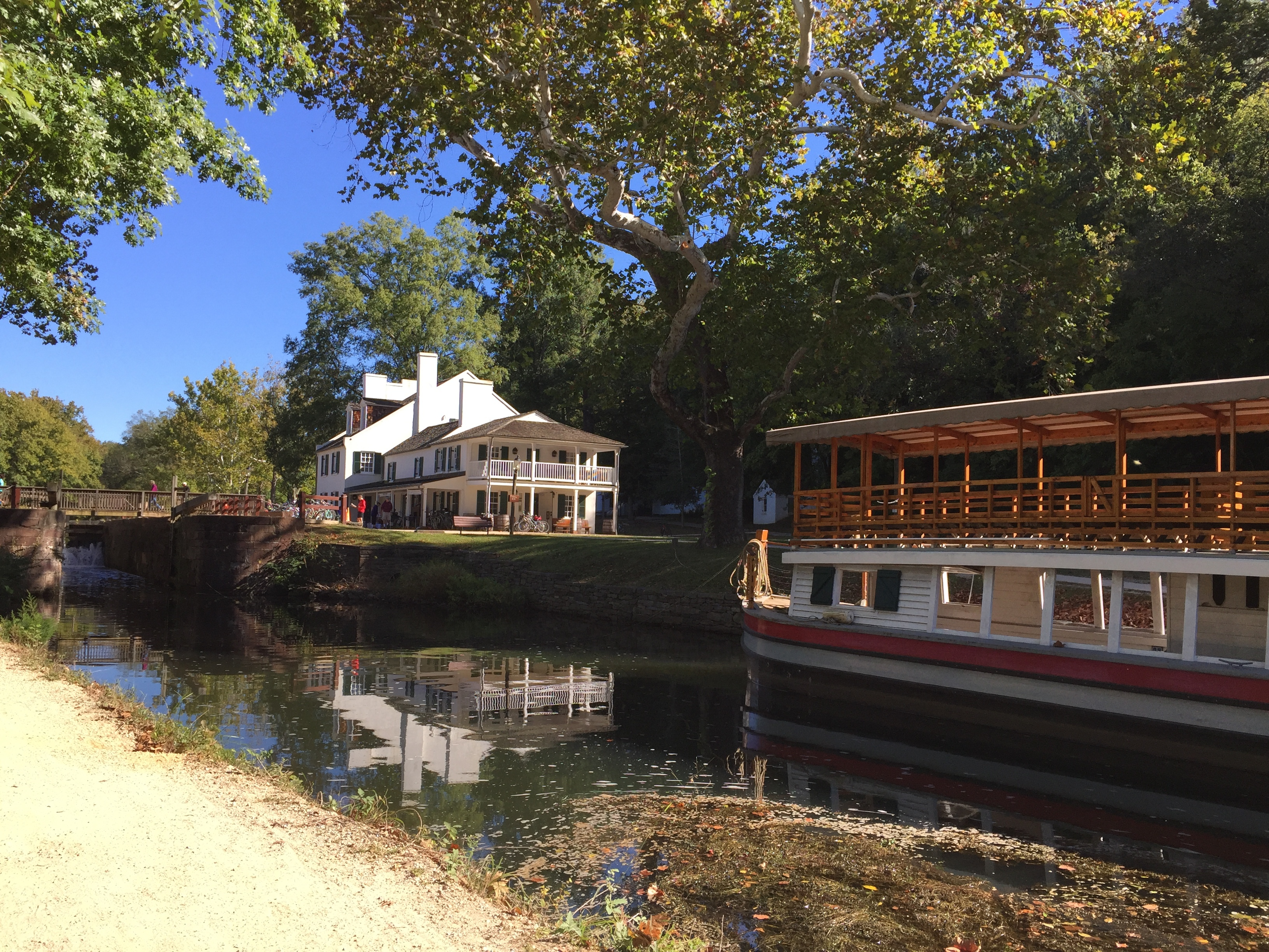 View of the Barge and Park Visitor Center by Lise Howe