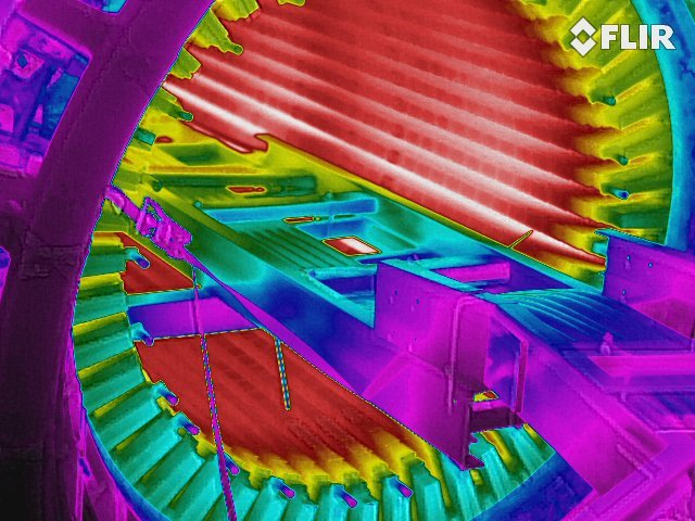 Infrared Thermal Stator Ring Core Testing