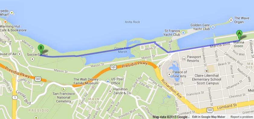 map-Crissy Field to Marina Green