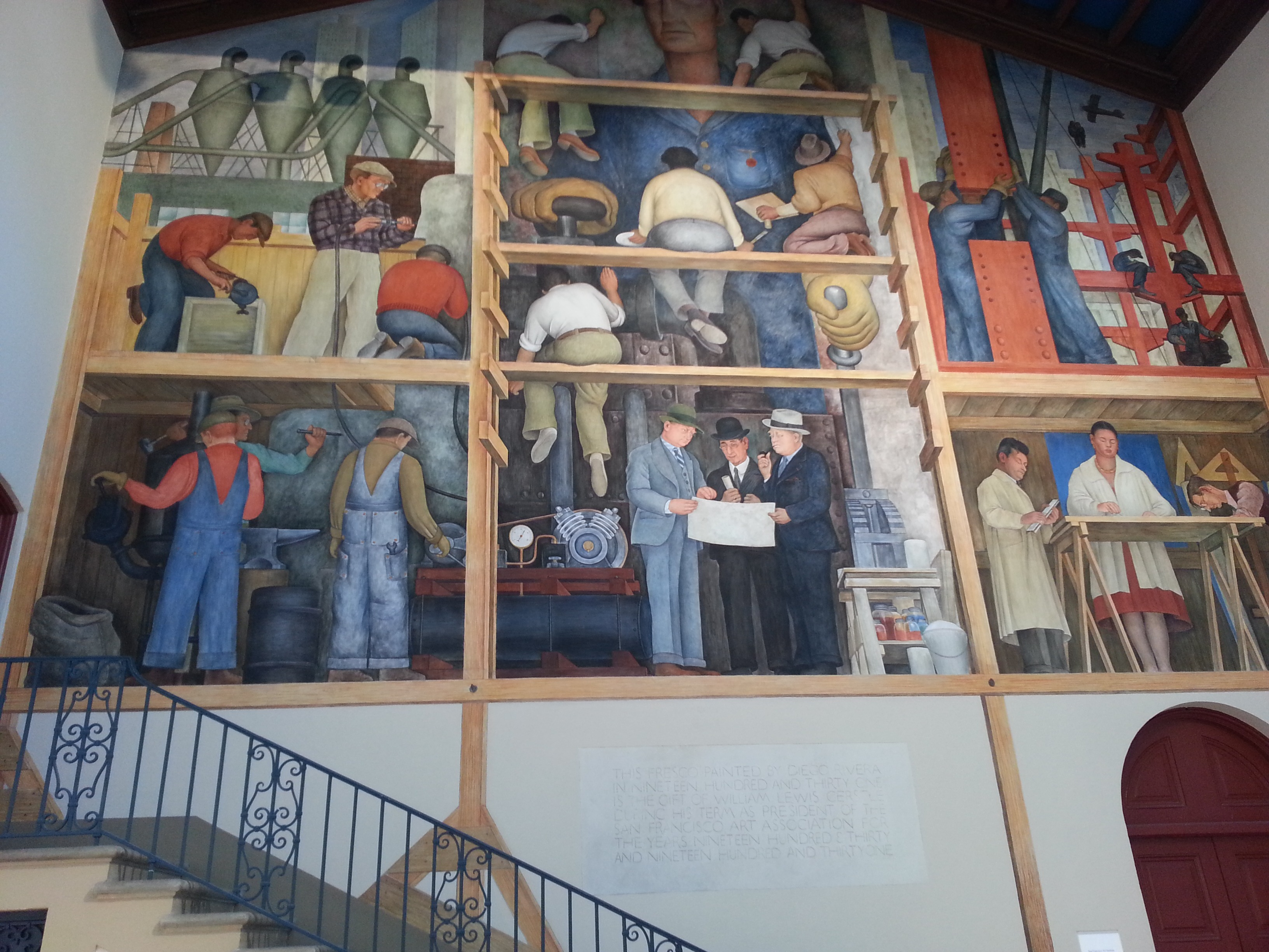 Living in san francisco the san francisco art institute for Diego rivera mural san francisco art institute