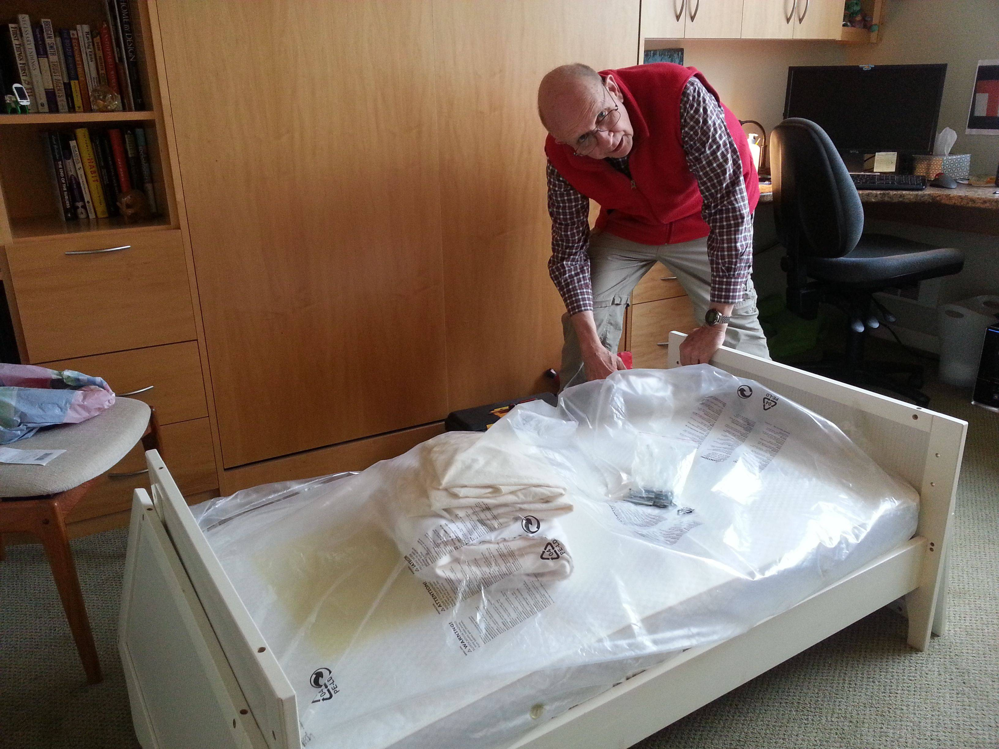 Assembling the toddler bed