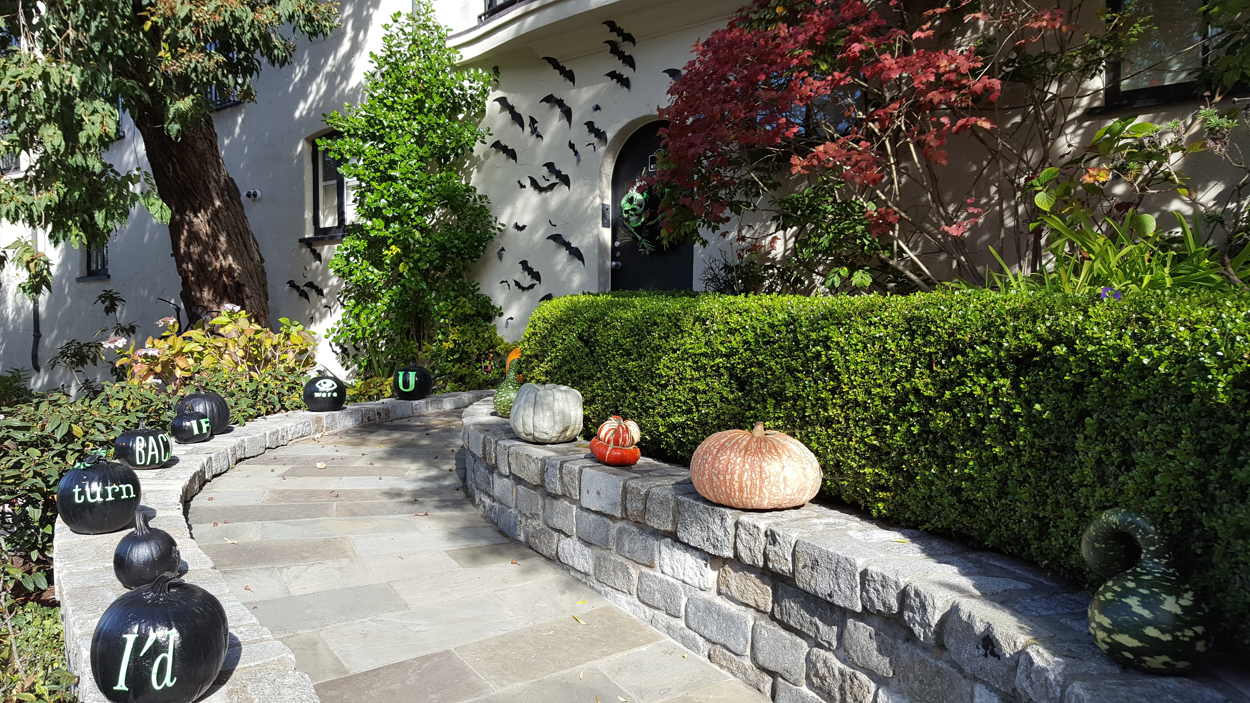 Halloween decoration, Pacific Heights home