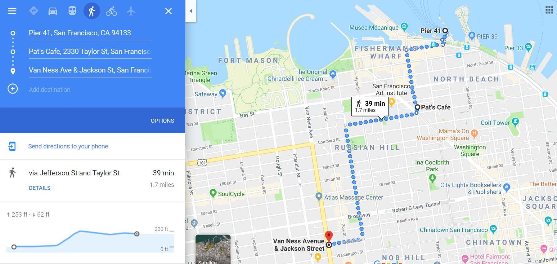 map to Pier 41, SF