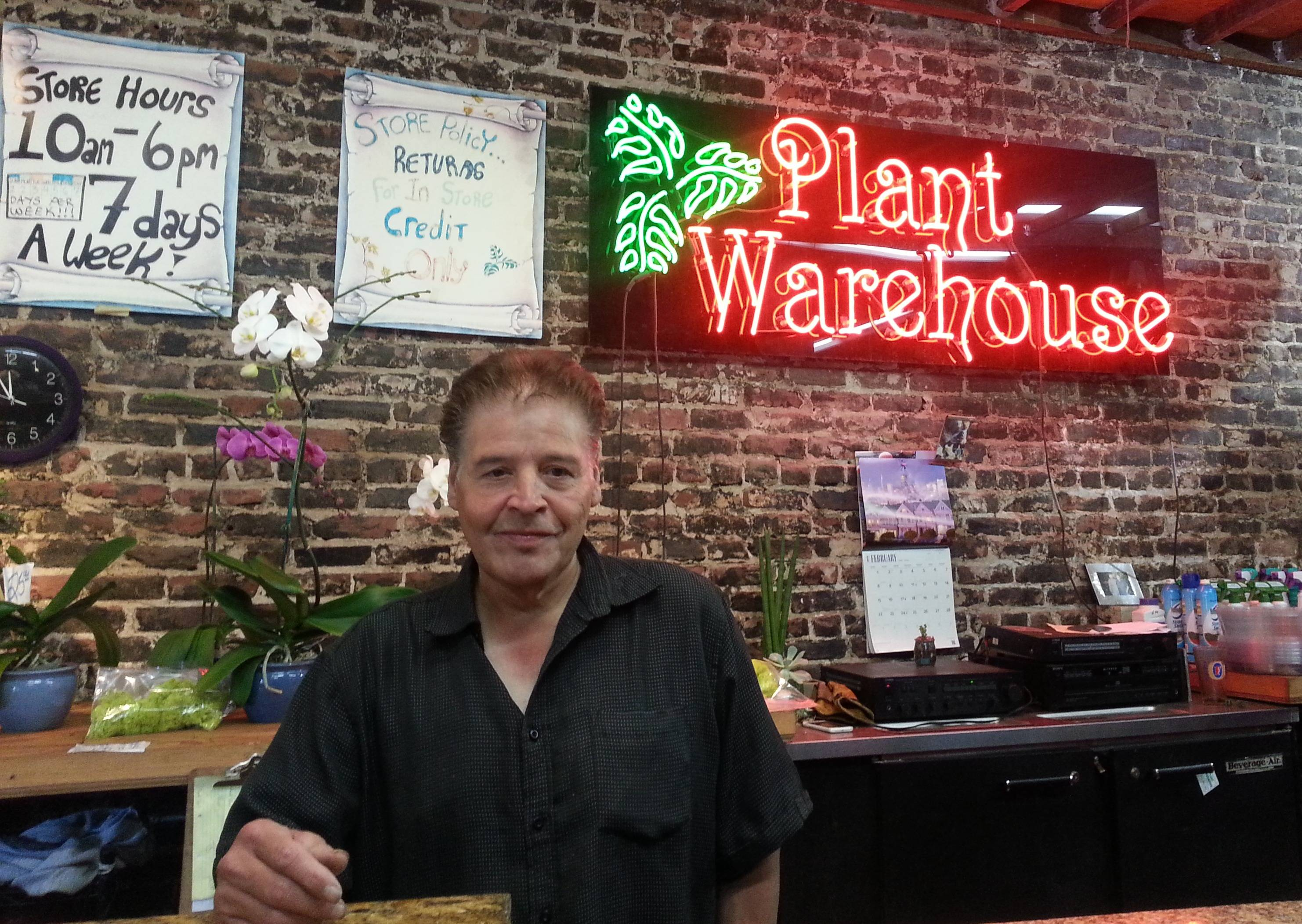 Gil Gonzales, owner, Plant Warehouse