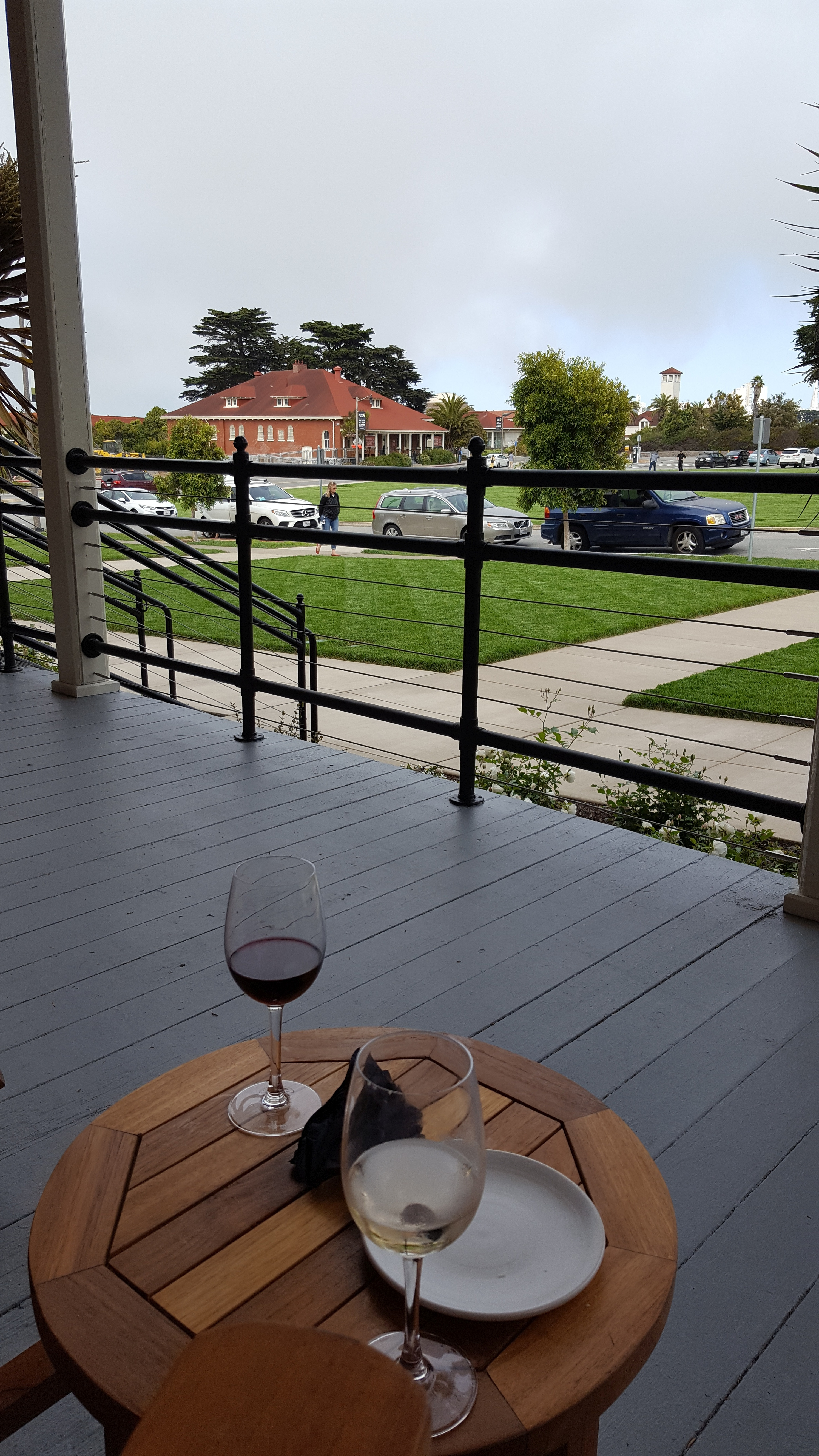 Happy Hour on the veranda, The Lodge at the Presidio