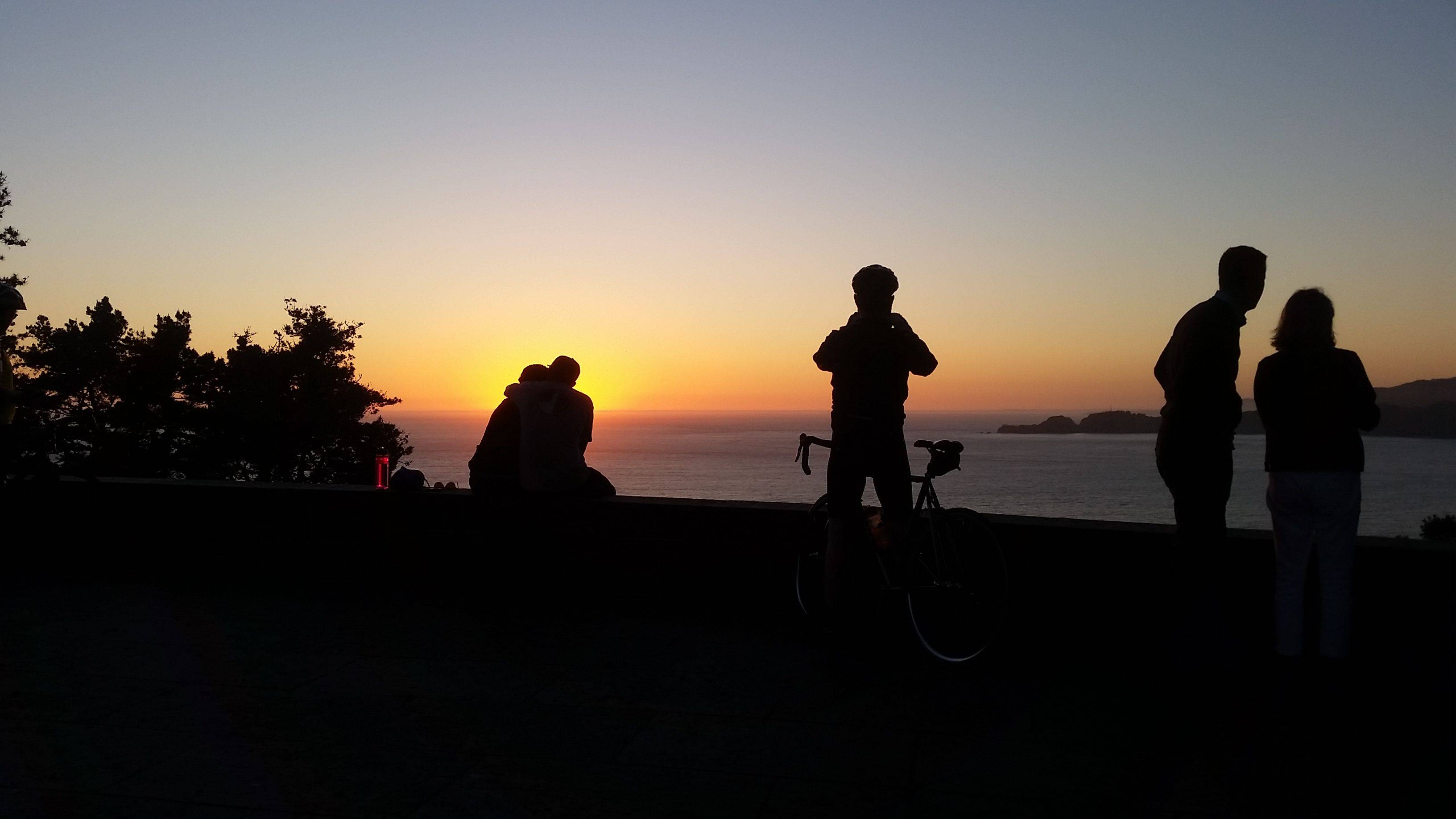 Sunset at Immigrant Point, Presidio, SF