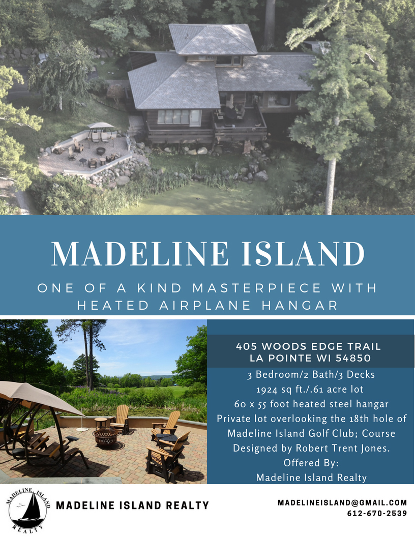 New Listing on Madeline Island - 405 Woods Edge Trail, LaPointe WI