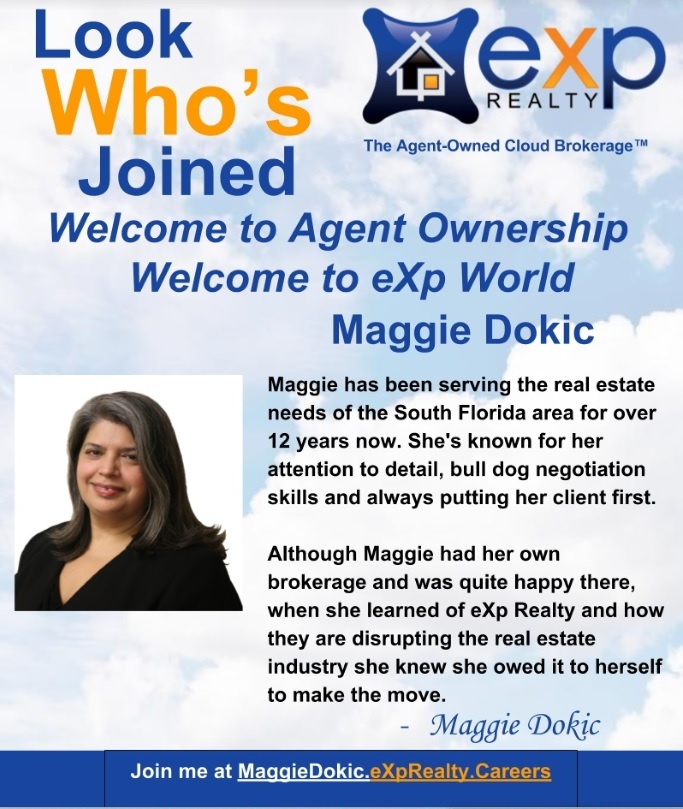 Maggie Dokic Moves to eXp Realty