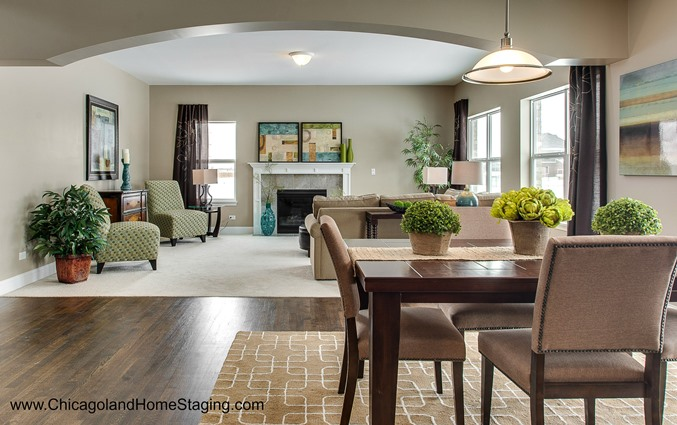 dining room home staging in naperville