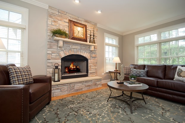 Home Staging Chicago Accessorizing the Fireplace Mantel