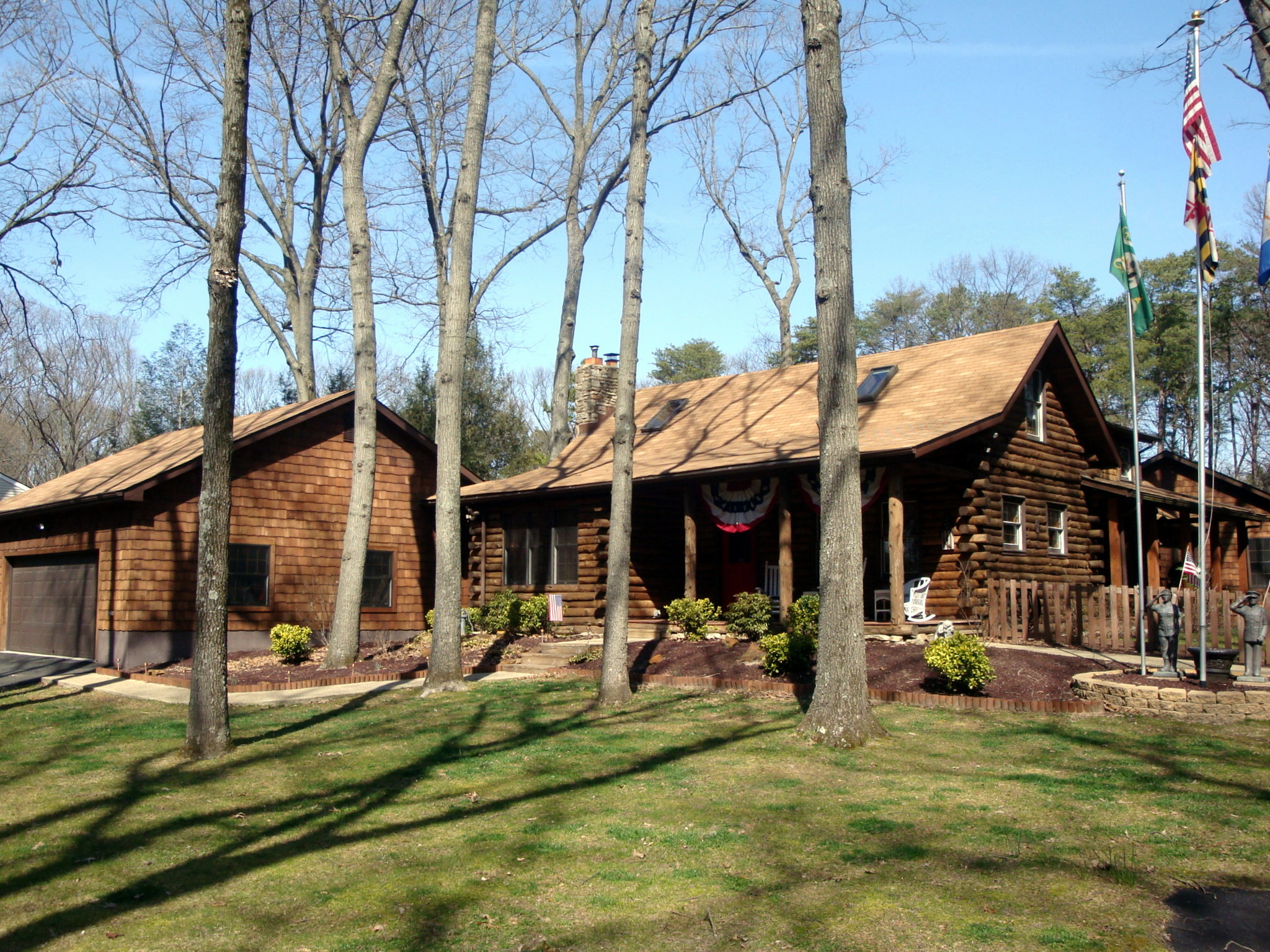 Log cabin for sale near annapolis md for Authentic log cabins for sale
