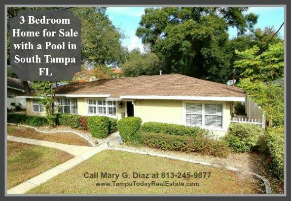 3 bedroom home for sale with a pool in south tampa fl 4