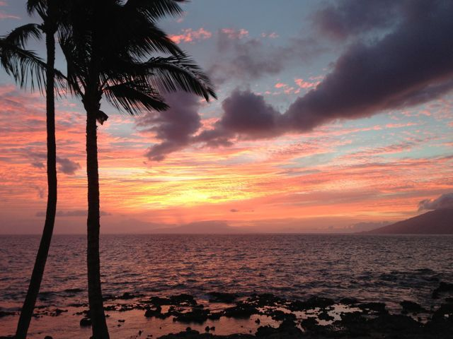 Sunset at the 5 Palms Restaurant, Kihei Maui