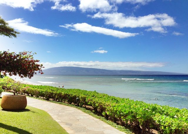 the shoreline at the Kaanapali Shores Resort on West Maui