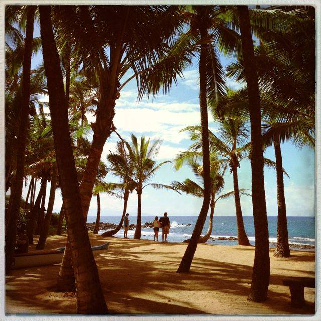 the beach at Mama's Fish House, Maui Hawaii