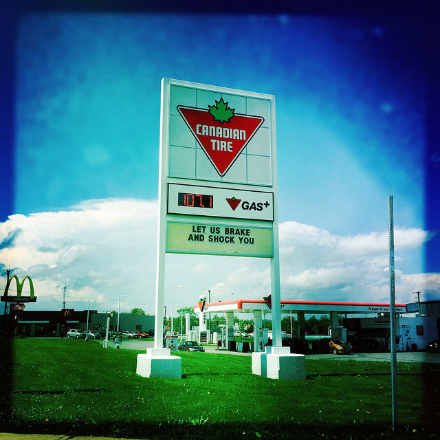 Happy Canada Day #Hipstamatic holiday pics - canadian tire store sign