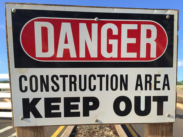 Construction Area - Danger