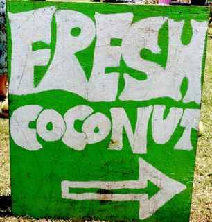 fresh coconut sign