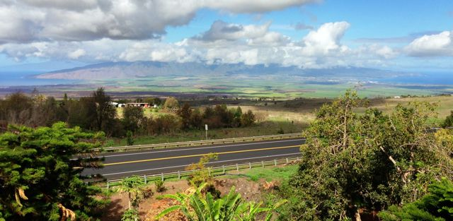 Kula Highway and the views to the central valley below