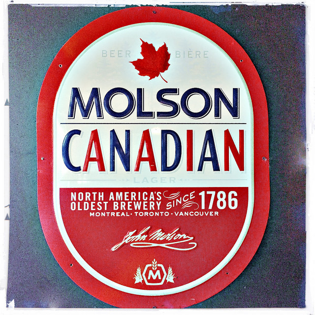 Happy Canada Day #Hipstamatic holiday pics - molson beer sign