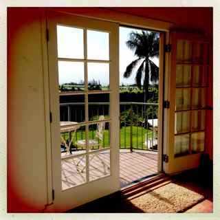 open lanai doors to the view, Haiku Maui 96708