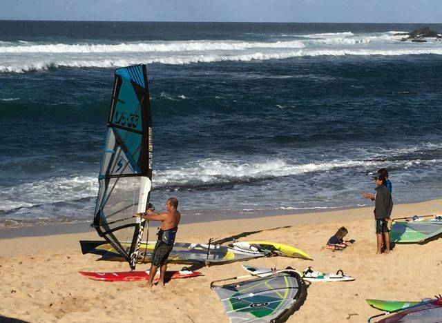 going windsurfing at Ho'okipa Beach Park, Maui HI