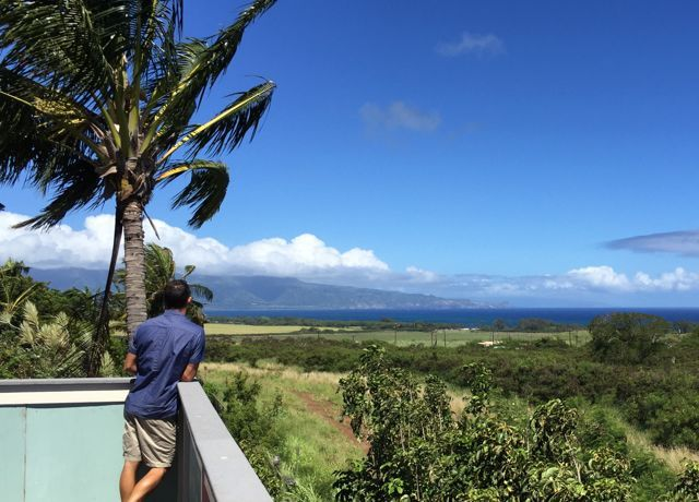 Northshore views from a home in Skill Village, Paia Maui HI