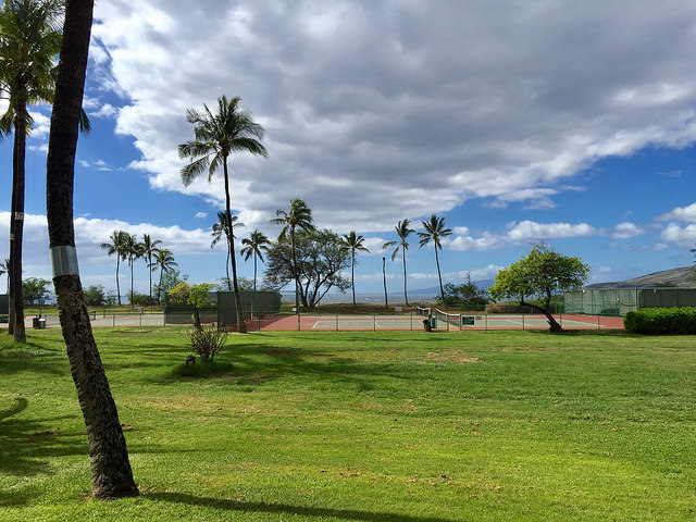 The view from unit D-101 at Luana Kai Maui