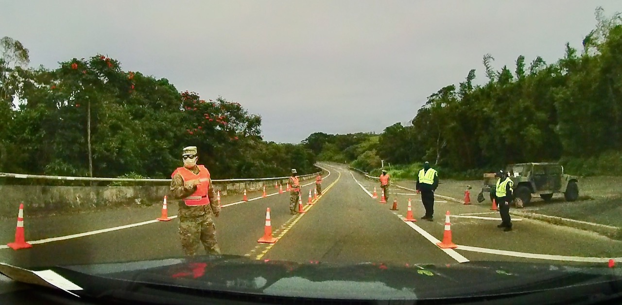 National Guard checkpoint at Twin Falls, Haiku Maui