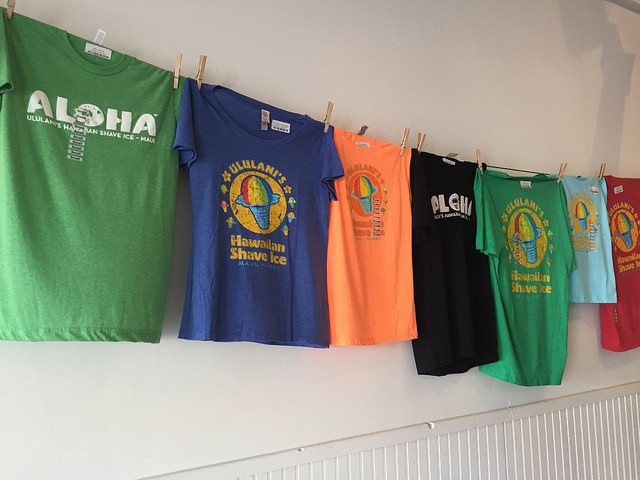 Ululani's Shave Ice in Paia Maui - t shirts for sale