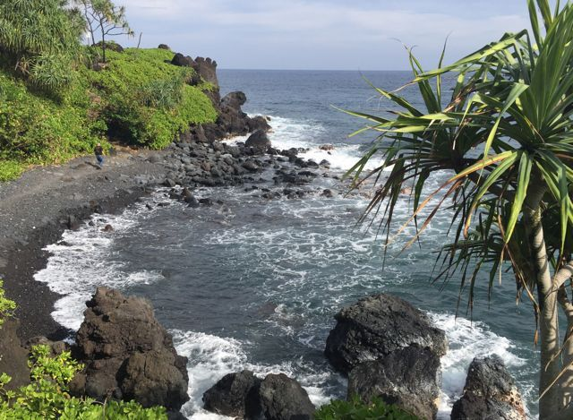 A small bay in Waianapanapa Beach park, Hana Maui