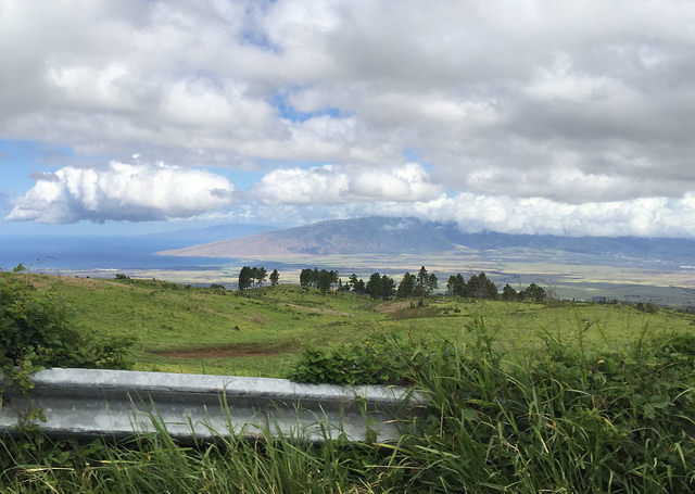 Views of West Maui from the Kula Highway