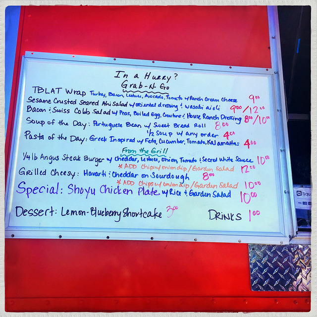 Wrap to Go food truck - menu