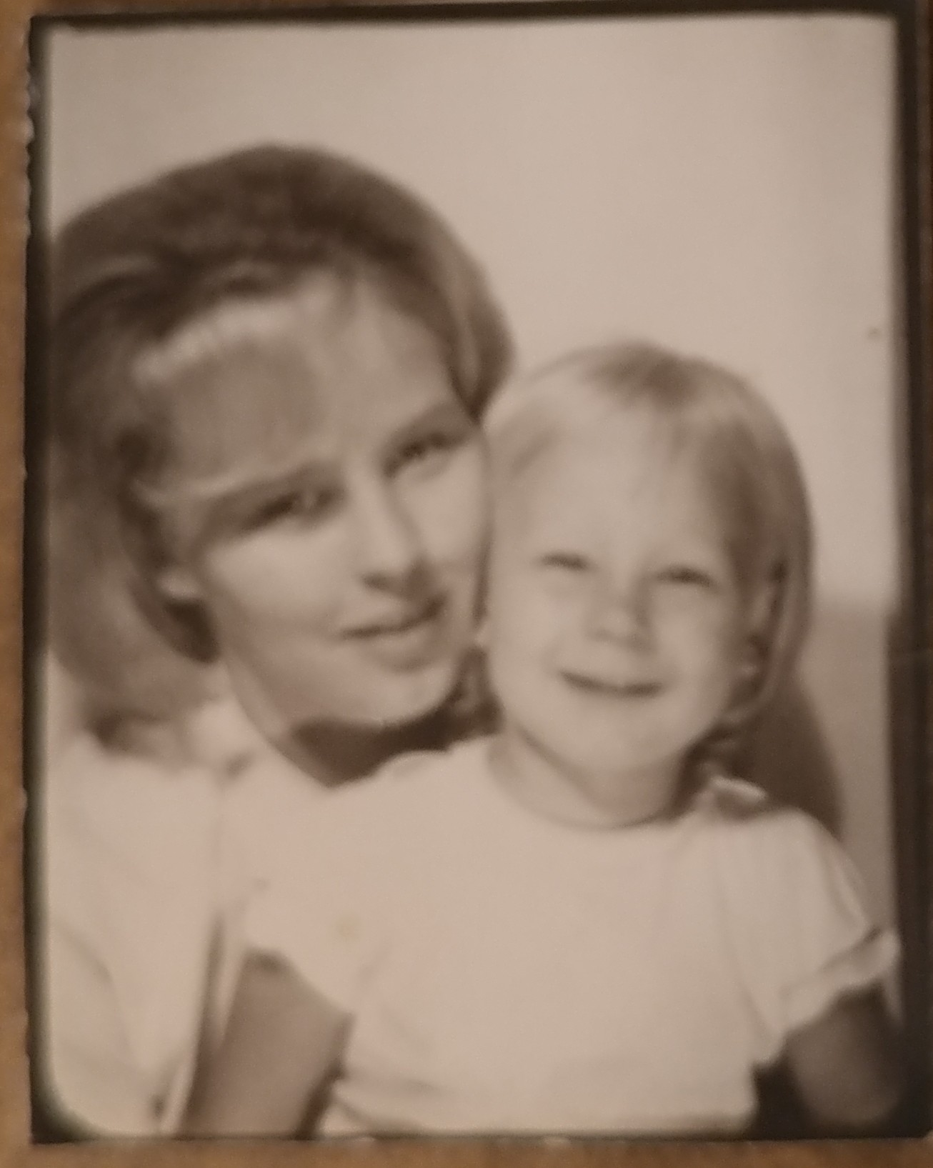 Mother Daughter Picture B&W