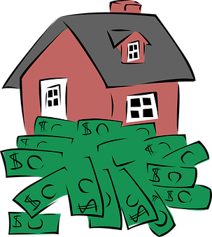 house with money picture