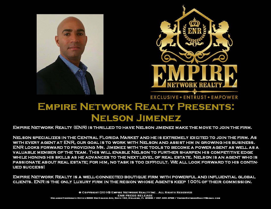 empire network realty presents nelson jimenez. Black Bedroom Furniture Sets. Home Design Ideas