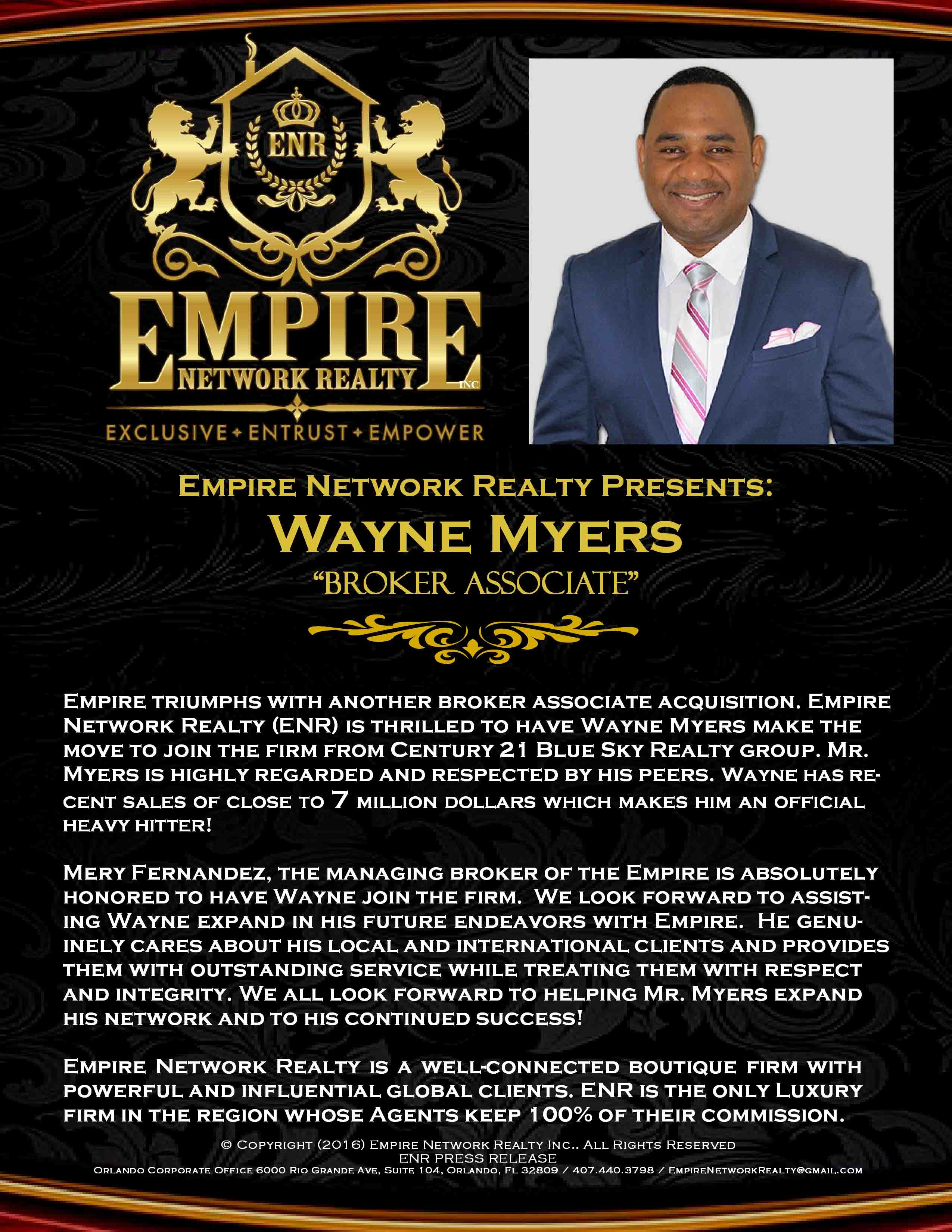 empire network realty presents wayne myers. Black Bedroom Furniture Sets. Home Design Ideas