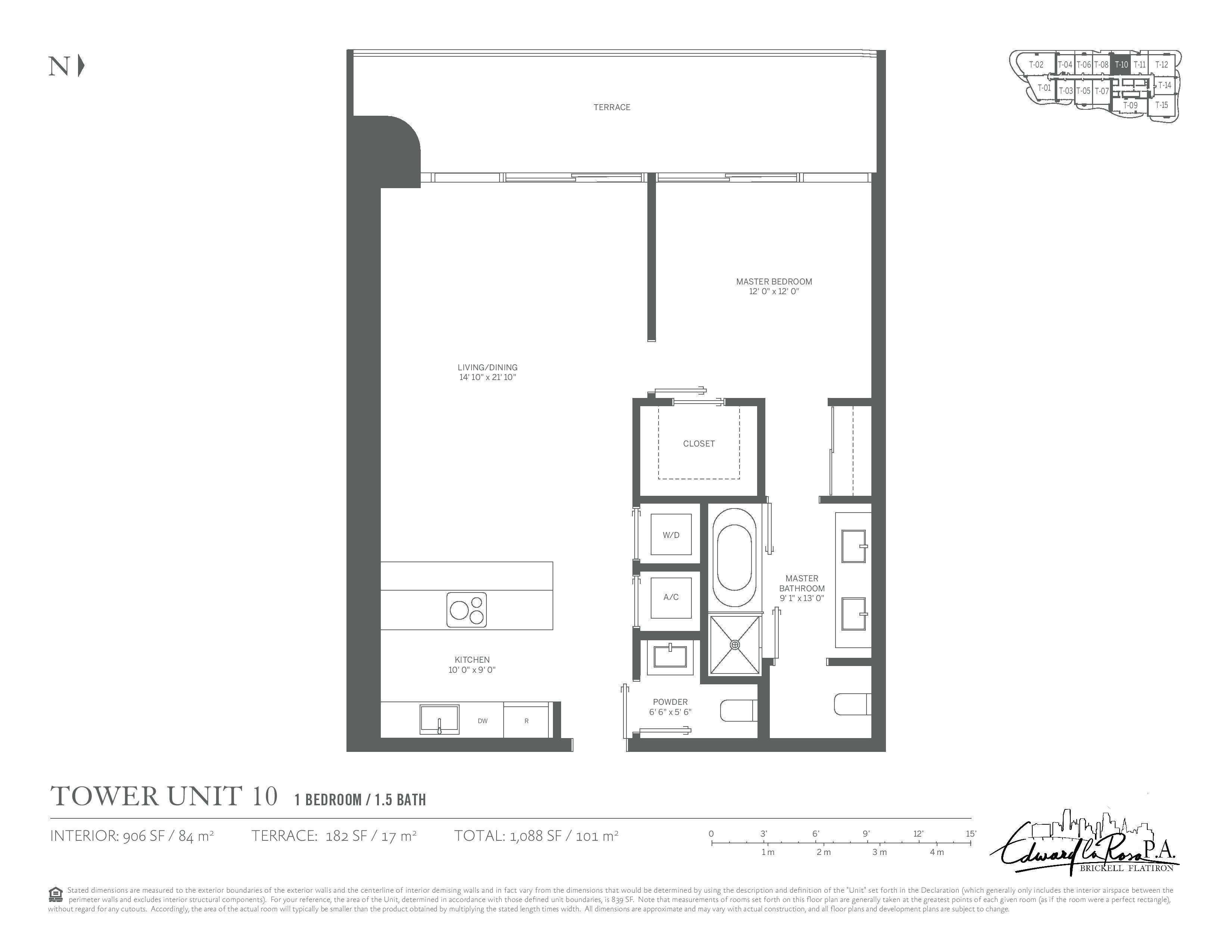 Floor Plans Brickell Flatiron Miami Florida