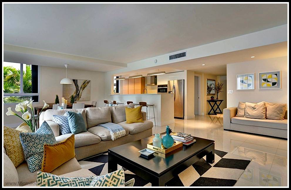 home staging ideas for key biscayne waterfront condo