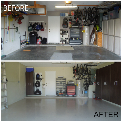 Garage Makeovers how to makeover your garage for less than $2,000 in 4 days