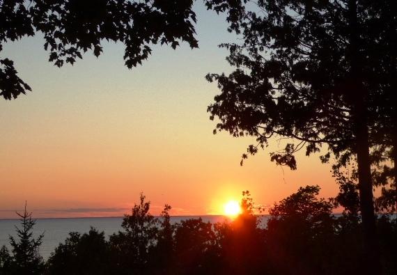 Door County Water View Sunsets