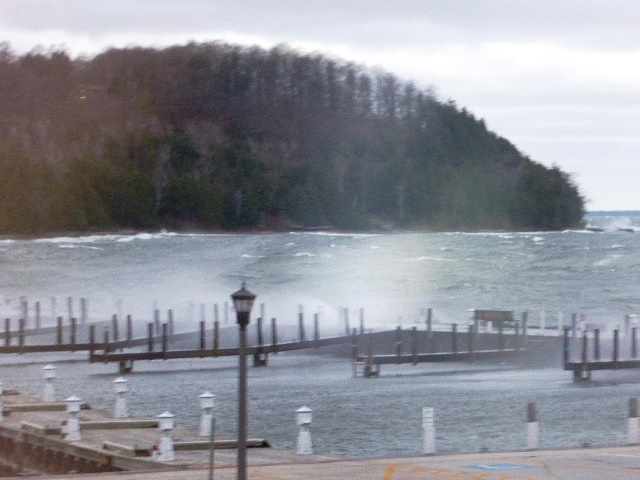 Sister Bay Marina Waves